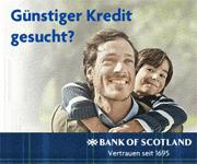 Ratenkredit der Bank of Scotland belegt 1. Platz im Kreditvergleich
