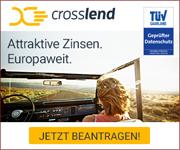 CrossLend – der grenzübergreifende europäische Kreditmarktplatz – Kredit ab  3,31%